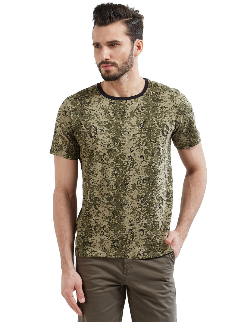 Plain Men's Tshirt - Dot Olive