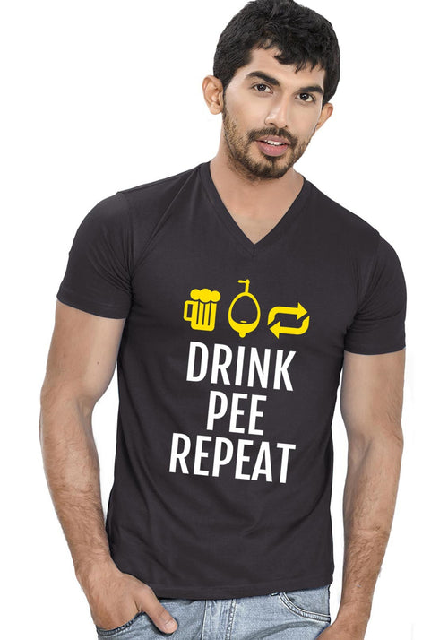Drink Pee Repeat V Neck T-shirt