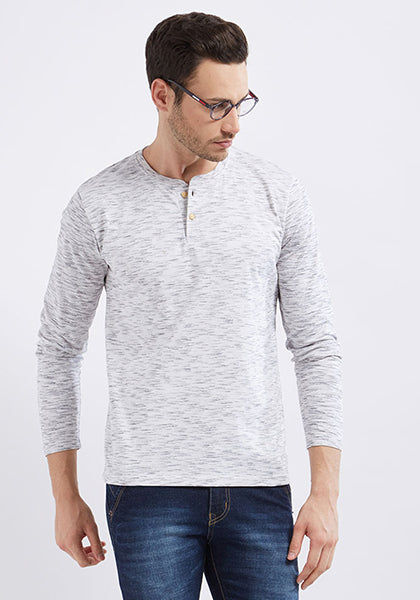 Henley Full Sleeve - Ecru