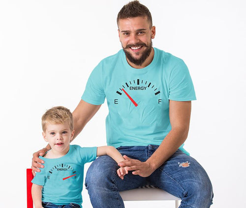 Energy Meter - Father And Son T-Shirt
