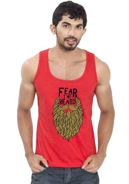 Fear The Beard Sleeveless T-Shirt