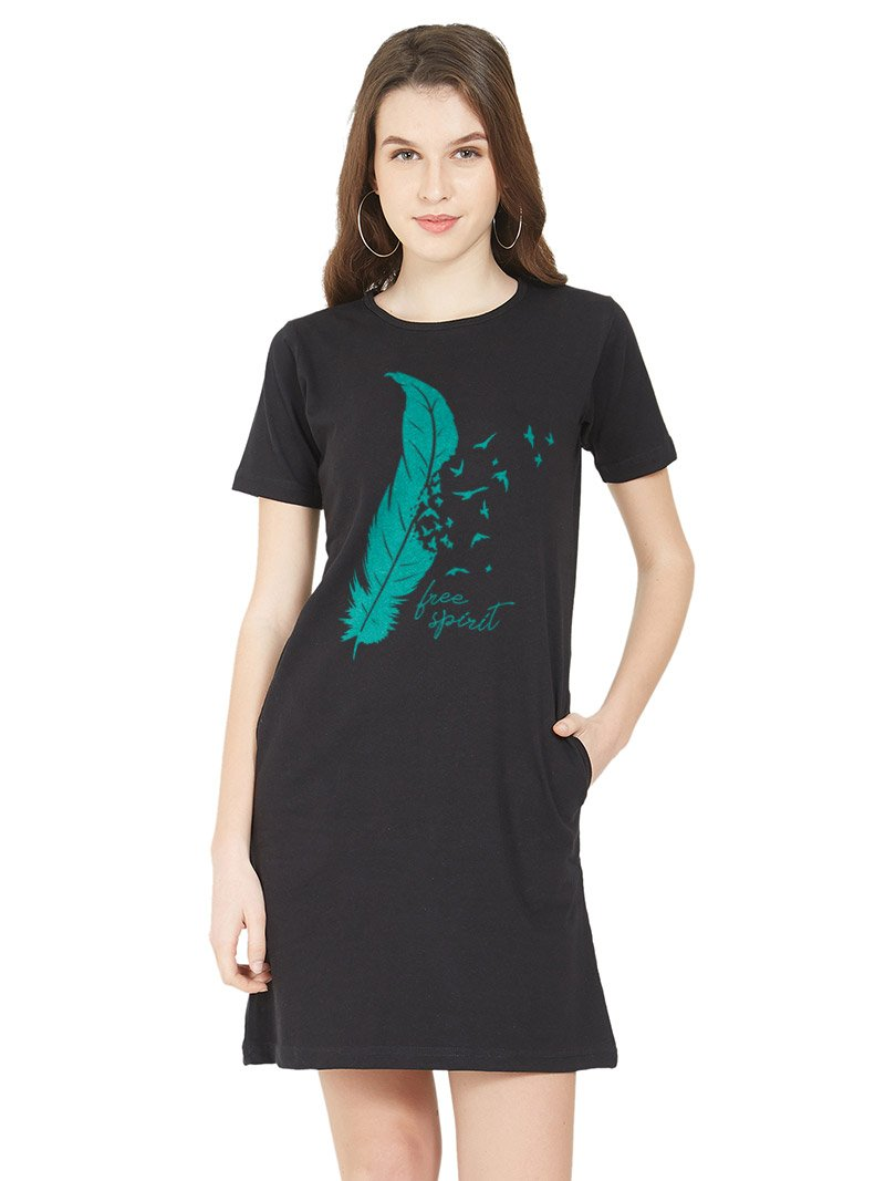 Free Spirit Women T-Shirt Dress