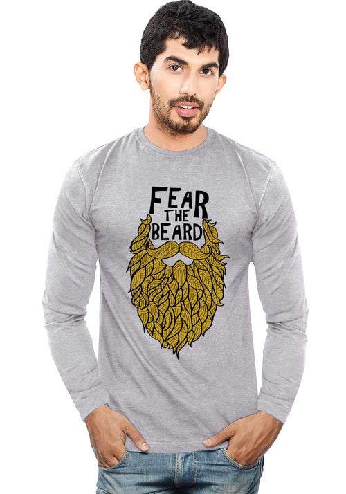 Fear The Beard - Full Sleeve - Wear Your Opinion - WYO.in  - 1