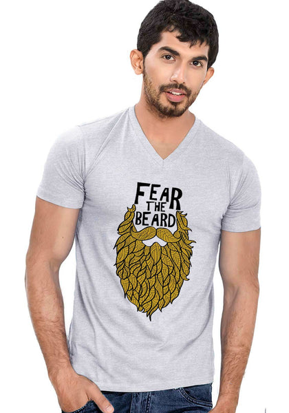 Fear the Beard V Neck T-shirt