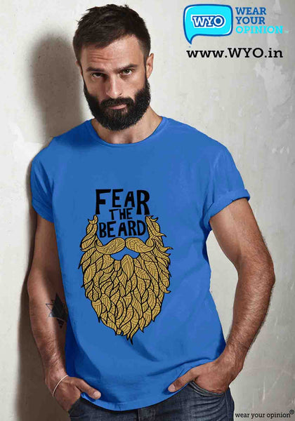 Fear The Beard T-Shirt - Wear Your Opinion - WYO.in  - 1