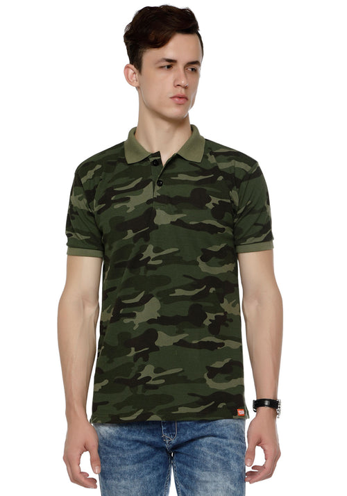 Green Camo Polo T-Shirt Army Collection