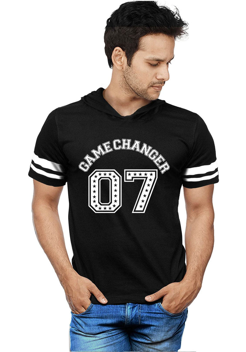 Game Changer 07 Half Hoodie Stripe T-Shirt