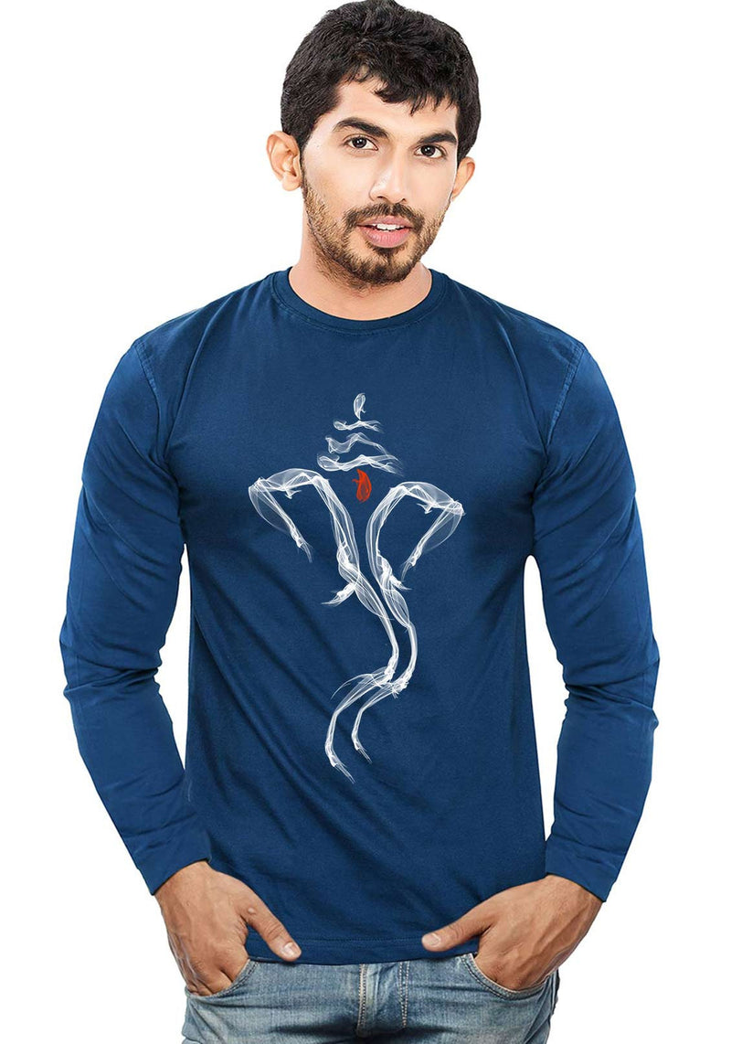 Ganesha Smoke Full Sleeve T-Shirt - Wear Your Opinion - WYO.in  - 2