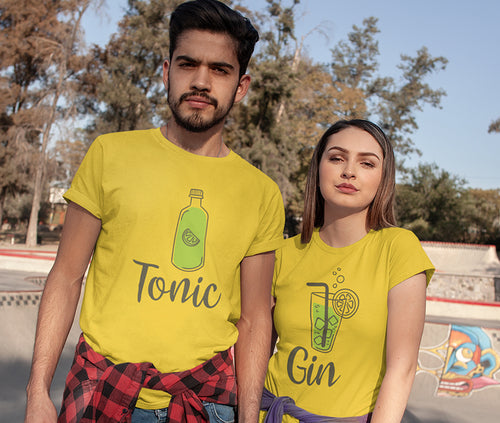 Gin Tonic Couple Tees