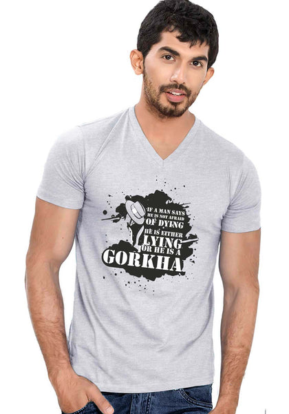 Gorkha V Neck T-Shirt