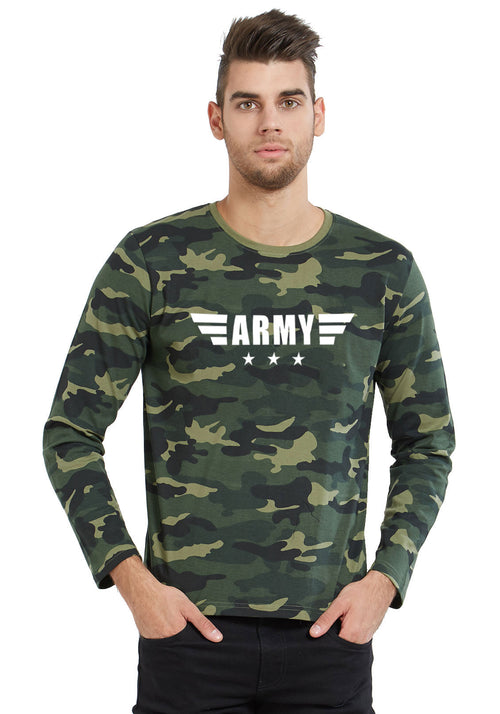 3 Star Army T-Shirt - Full Sleeves