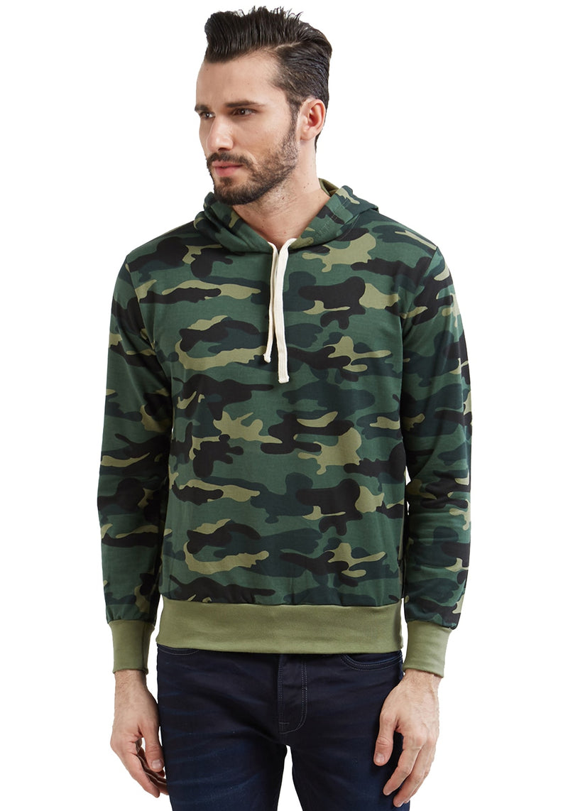 Green Camouflage - Hoodies