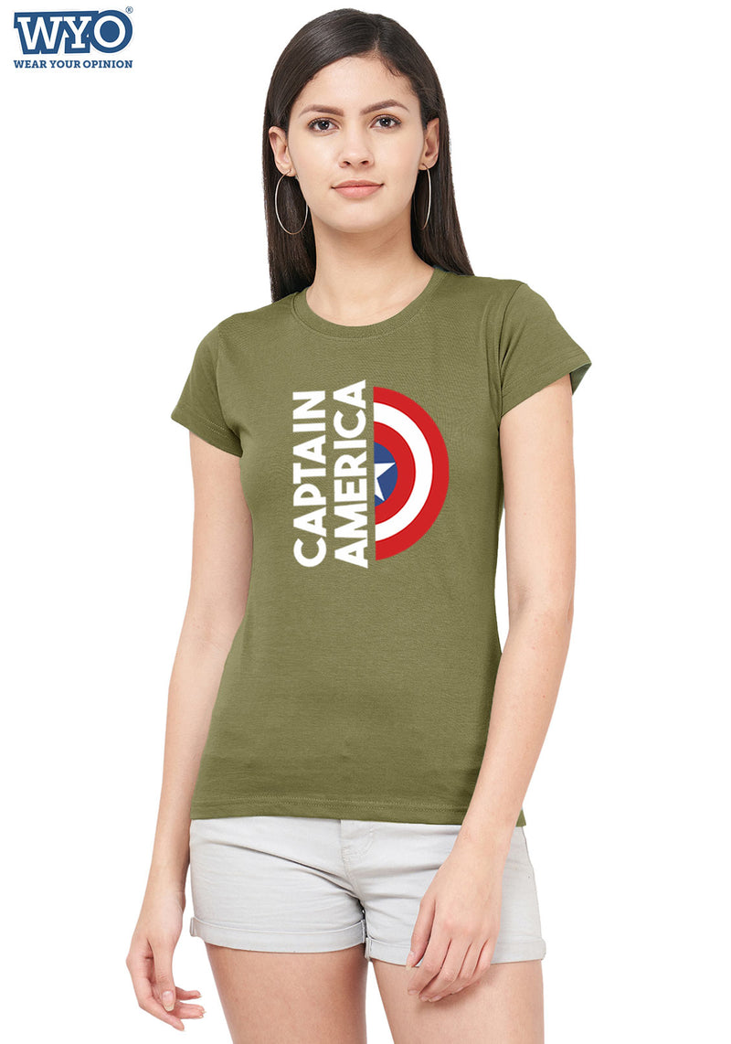 Captain America Shield Women Tshirt