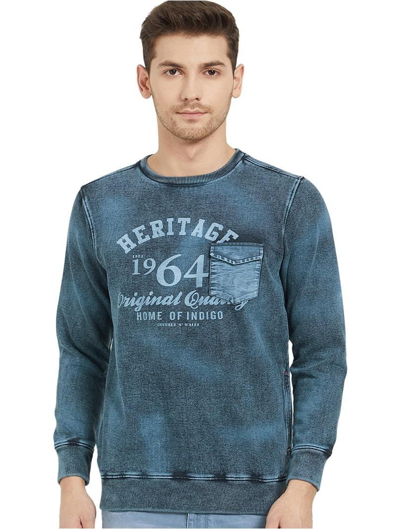Heritage Denim Pocket - Sweatshirt