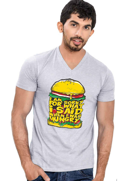 Hungry V Neck T-shirt