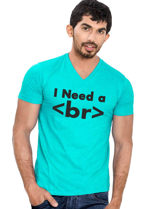 I Need Break V Neck T-Shirt