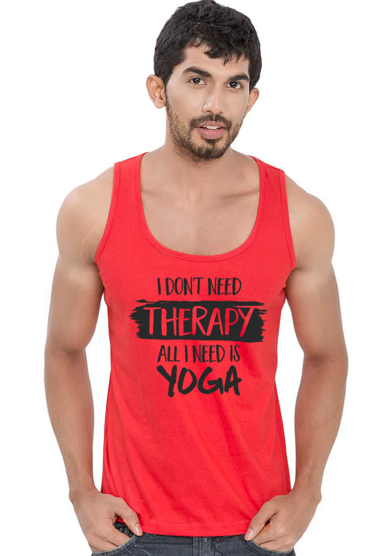I Need Yoga Sleeveless T-Shirt - Wear Your Opinion - WYO.in  - 1