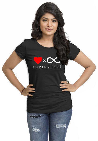 Invincible Women'S TShirt - Wear Your Opinion - WYO.in  - 1