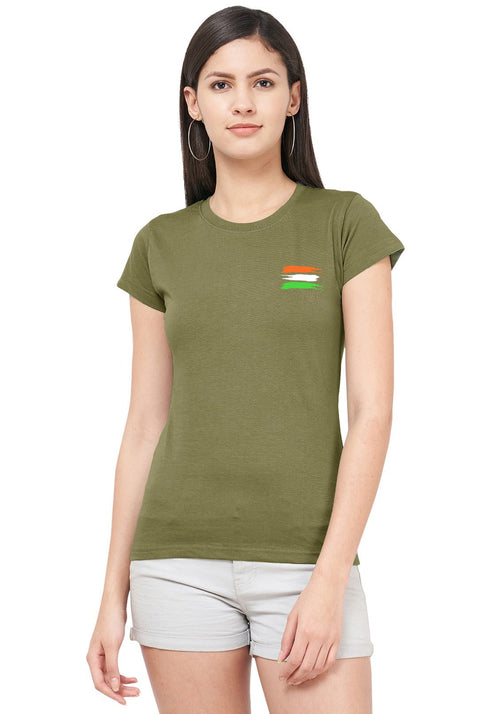 Indian Flag Women Tshirt