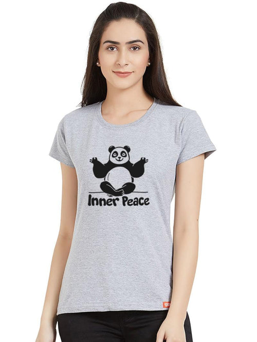 Inner Peace Panda Women T-Shirt