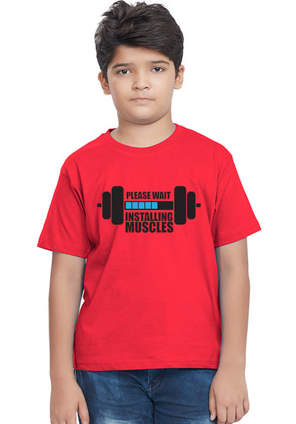 Installing Muscles Kids T-Shirt