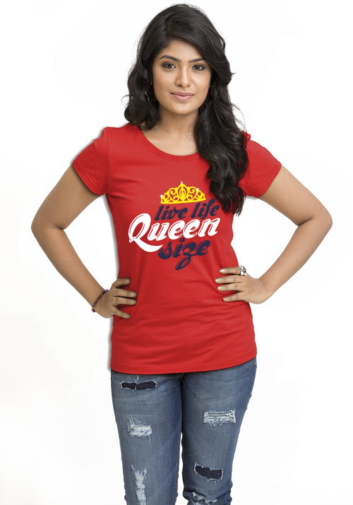 Queen Size Women TShirt - Wear Your Opinion - WYO.in  - 1