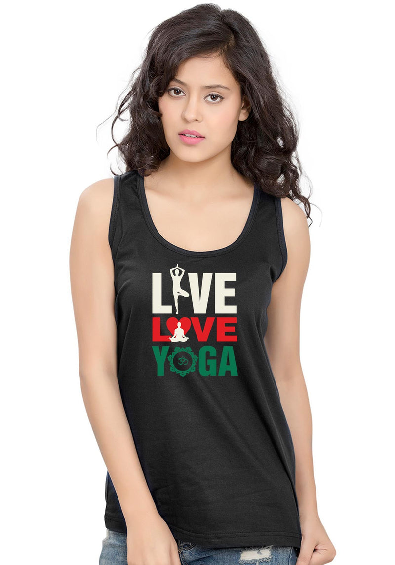Live Love Yoga Sleeveless T-Shirt - Wear Your Opinion - WYO.in  - 1