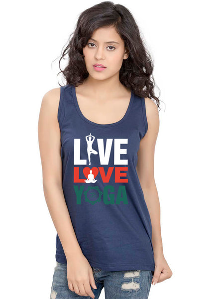 Live Love Yoga Sleeveless T-Shirt - Wear Your Opinion - WYO.in  - 2