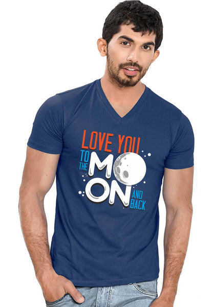 Love Moon V Neck T-shirt