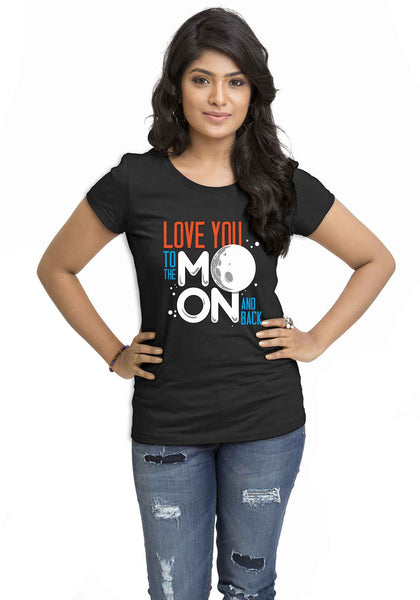 Love Moon Women'S TShirt - Wear Your Opinion - WYO.in  - 1