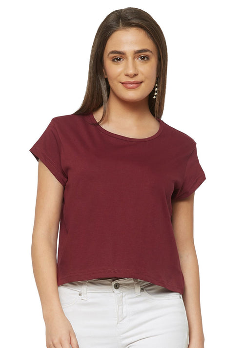 Crop Top - Maroon