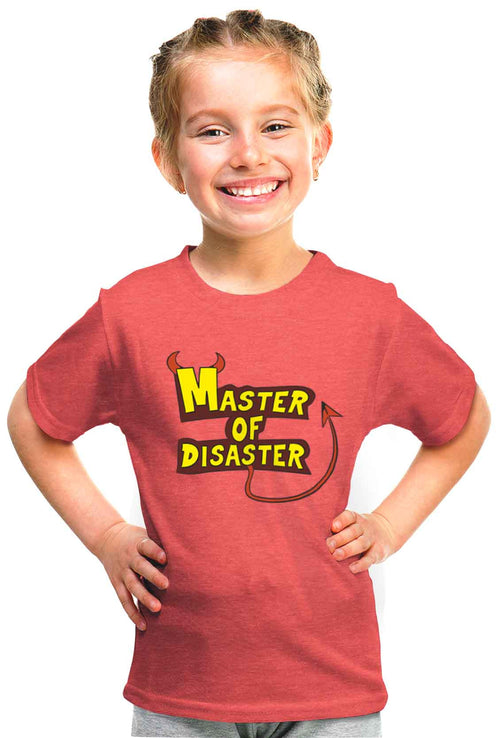 Master Of Disaster Kid'S Tshirt - Wear Your Opinion - WYO.in