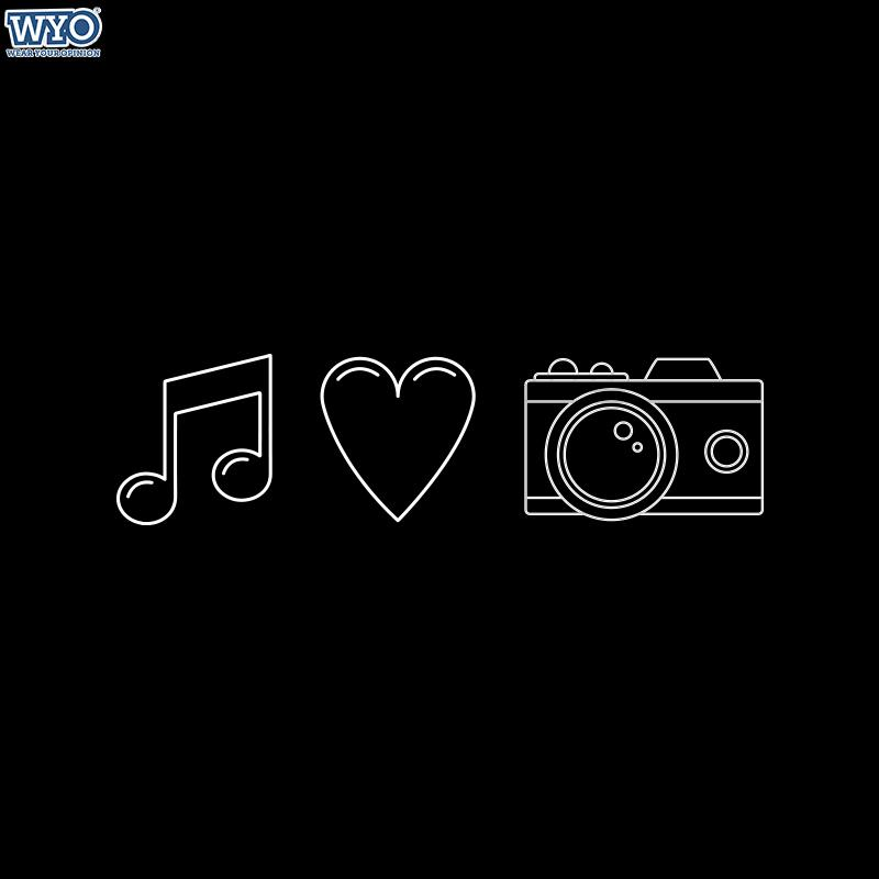 Music Love Camera Women T-Shirt