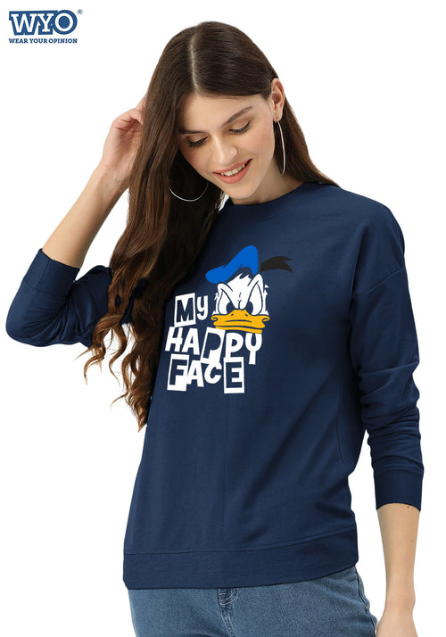 Happy Face Donald Duck - Women Sweatshirt