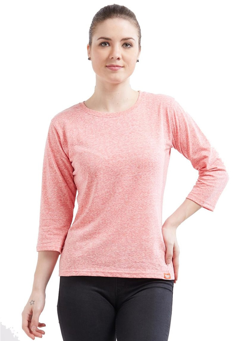 Naps Yarn Women's 3/4 Sleeve - Dark Pink