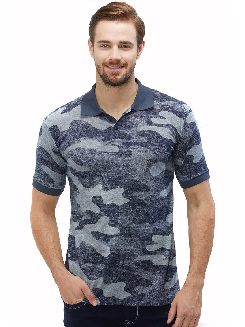 Navy Camo Polo T-Shirt
