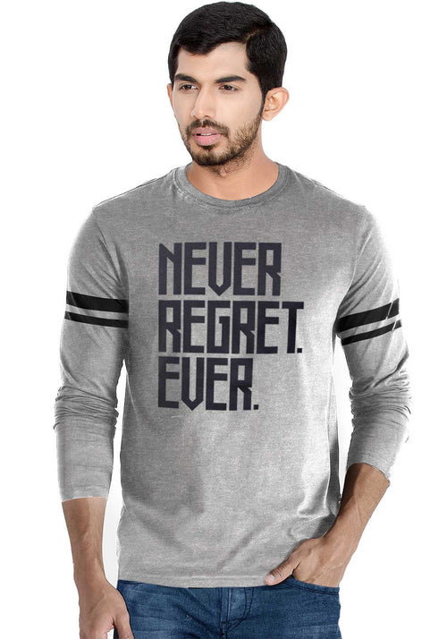 Never Regret Ever Full Stripe T-Shirt