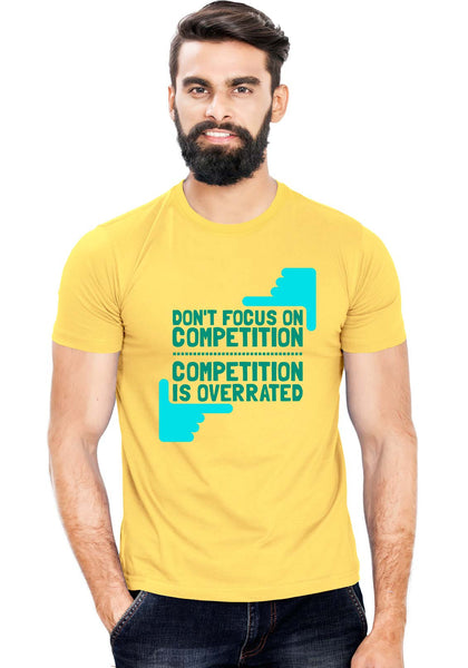 Overrated Competition T-Shirt - Wear Your Opinion - WYO.in  - 1