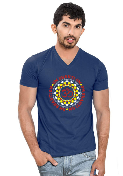 Om Shanti Om V Neck T-Shirt - Wear Your Opinion - WYO.in  - 1