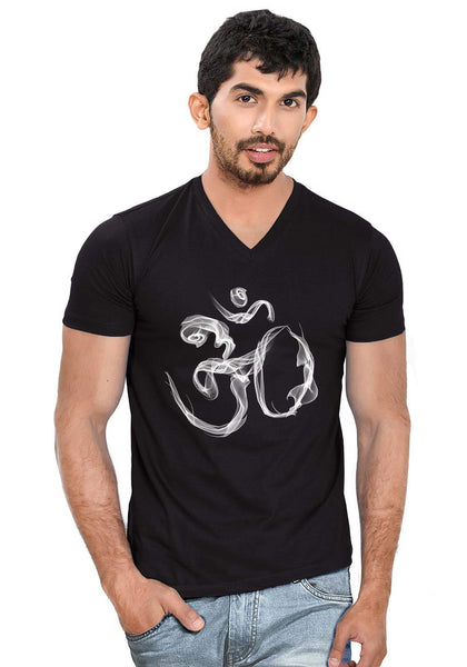 Om Smoke V Neck T-Shirt