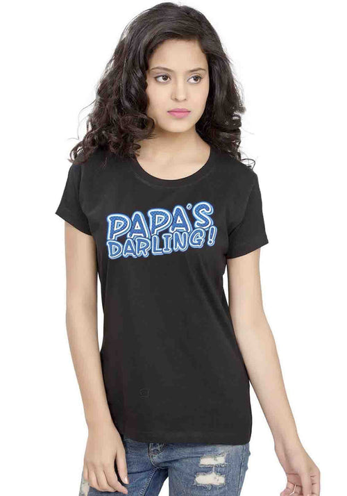 Papas Darling Women TShirt - Wear Your Opinion - WYO.in  - 1