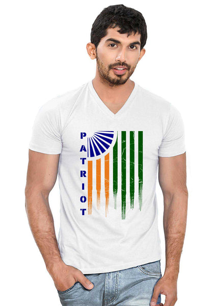 Patriot Flag V Neck T-Shirt - Wear Your Opinion - WYO.in