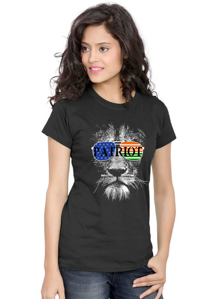 Patriot Lion Women T-shirt - Wear Your Opinion - WYO.in