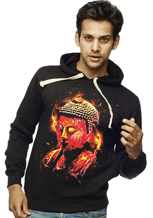 Peace Buddha Front Print Sweatshirt - Wear Your Opinion - WYO.in