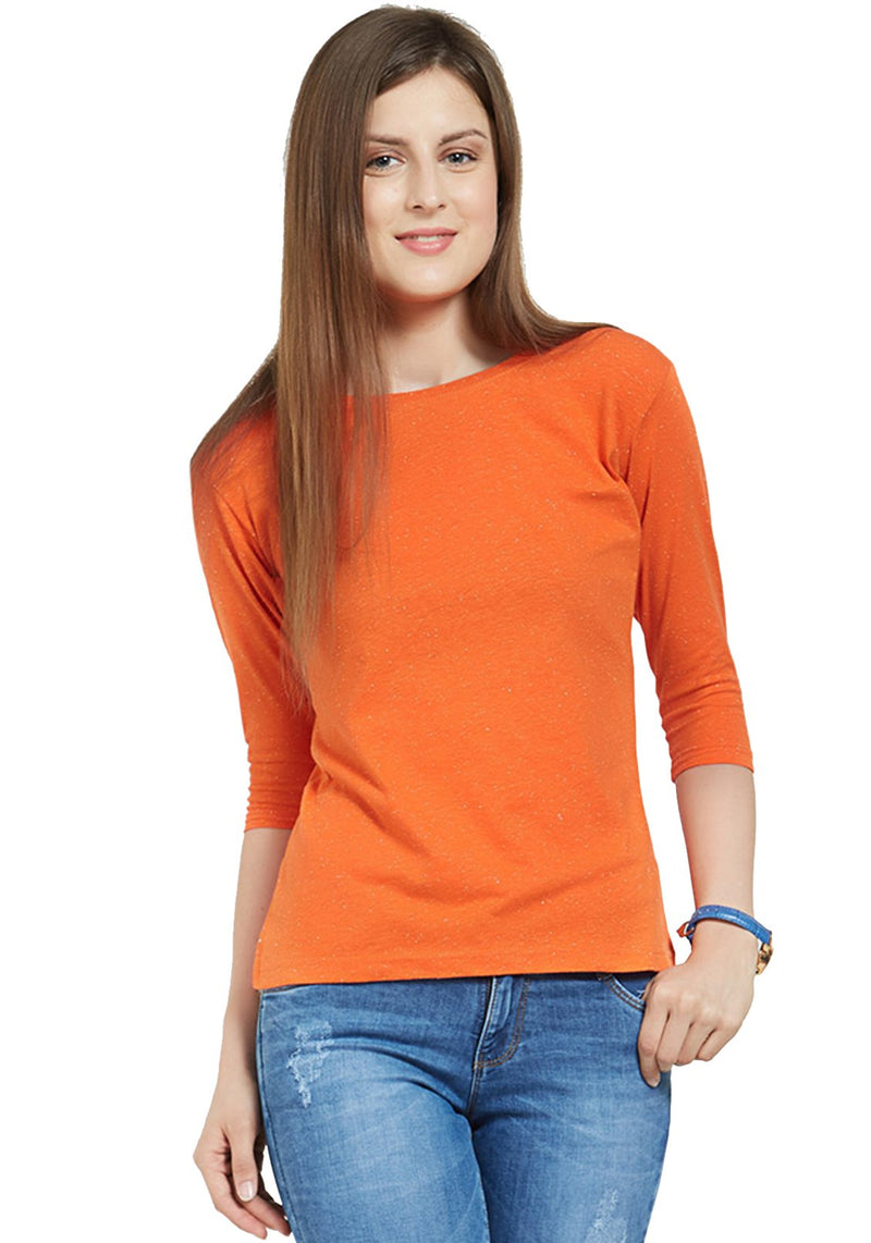 Plain Women's 3/4 Sleeve - Orange