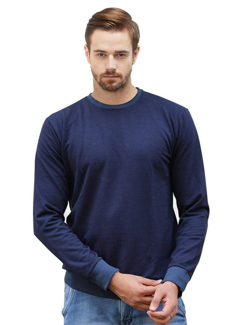 Plain Sweatshirt - Navy