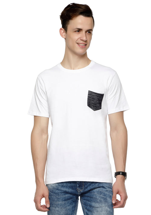 Plain Denim Pocket T-Shirt