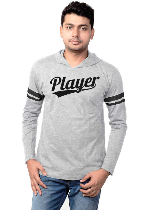 Player Full Hoodie Stripe T-Shirt