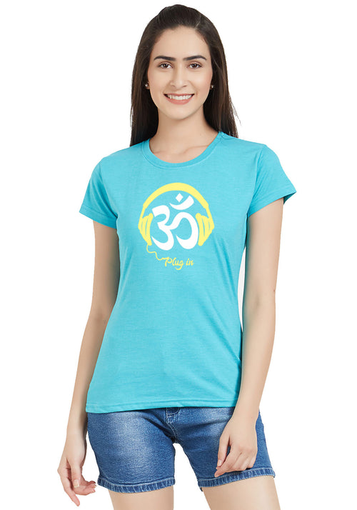 Plug-In Om Women Tshirt