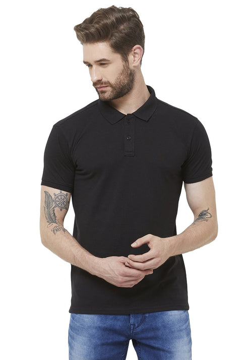 Premium PQ Polo T-Shirt - Black